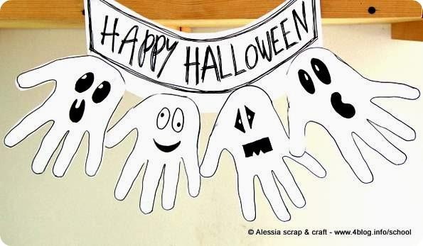 Decorazioni di halloween festone di fantasmi alessia - Halloween decorazioni ...