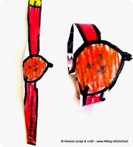 Lavoretti dei bambini: braccialetto di Halloween