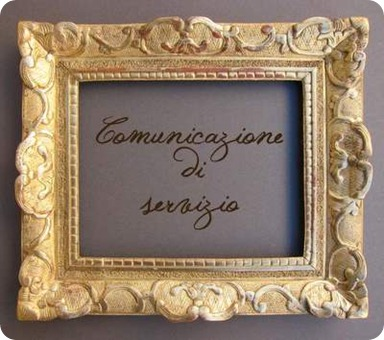 Comunicazione di servizio: problemi sul blog