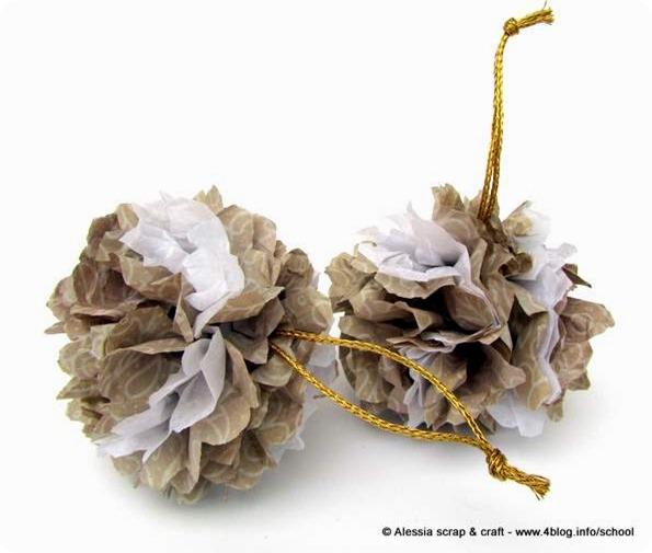 -50 giorni a Natale: le palle di carta velina