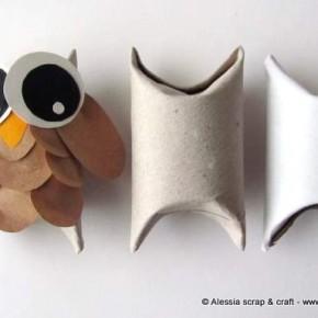 -50 giorni a Natale: scatoline gufetto con i tubi