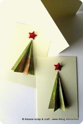 -50 a Natale: le card con gli alberi 3D