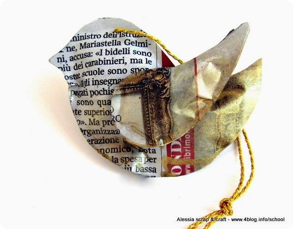 -50 giorni a Natale: uccellini di giornale per l'abero