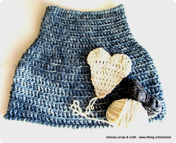 Lavori in corso: Primitive Cape in blu jeans