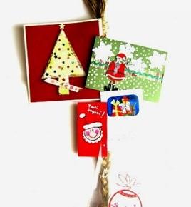 -50 giorni a Natale: treccia per appendere i biglietti d'auguri