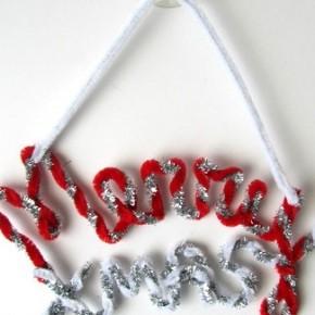 -50 giorni a Natale: auguri scritti con gli scovolini