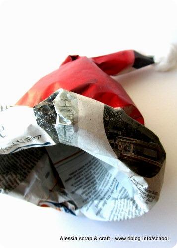 50 giorni a natale  cappello di Babbo Natale di carta  acbc66ef8298