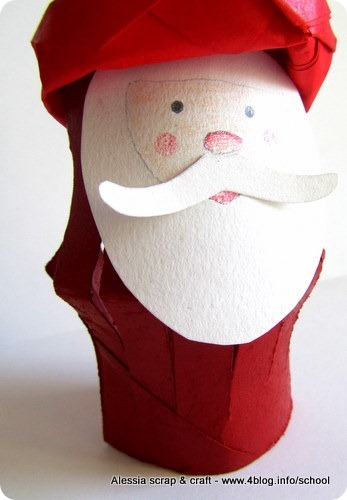 50 Giorni A Natale Fai Babbo Natale Con I Rotoli Alessia Scrap