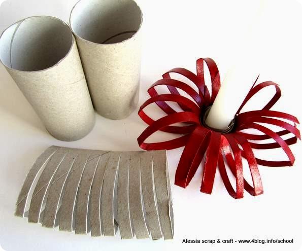 Estremamente Portacandele DIY fatti con i tubi di cartone - Alessia, scrap  TK28