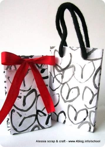 Buste e sacchetti faidate per i regali di san valentino for Sacchetti di carta fai da te