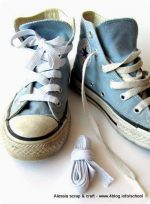Bambini: lacci elastici fai da te per le All Star