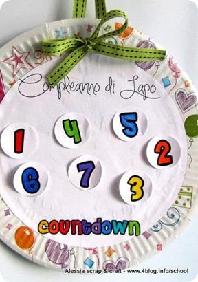 Compleanno bambini: fai da te l'happy birthday countdown