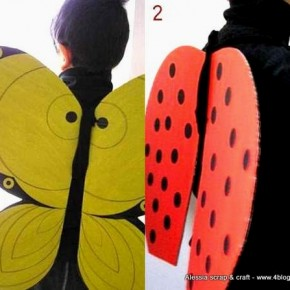 Maschere carnevale: farfalle e coccinelle faidate