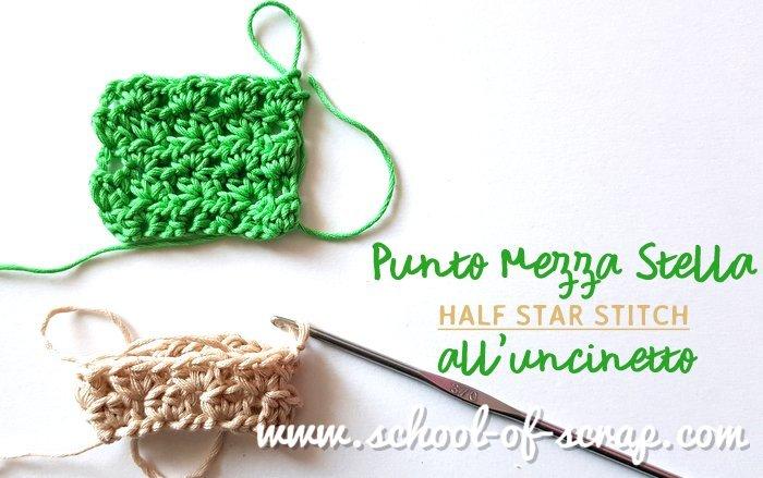 Scuola Di Uncinetto Punto Mezza Stella Half Star Stitch Alessia