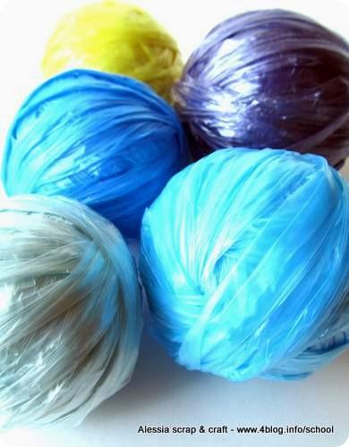 Alla ricerca di altri colori del filato di plastica…