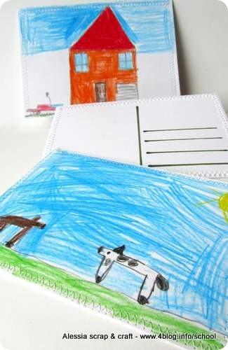 Lavoretti: le cartoline disegnate dai bambini