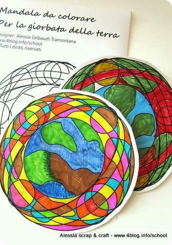 Giornata Della Terra Uggiosa Mandala Della Terra Da Colorare Alessia Scrap Craft