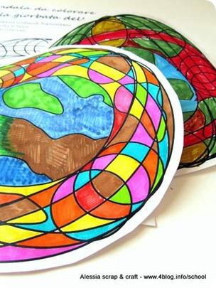 Giornata della Terra uggiosa? Mandala della terra da colorare
