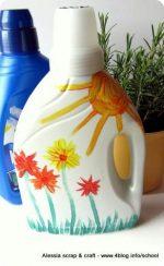 Lavoretti di primavera: annaffiatoi con bottiglie del detersivo