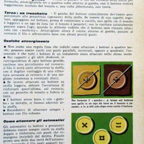 Scuola di cucito vintage: come si attaccano bottoni e automatici