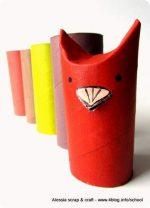 Lavoretti, zoo con i tubi di cartone: l'uccellino