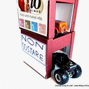 Creare con i bambini: il garage per macchinine