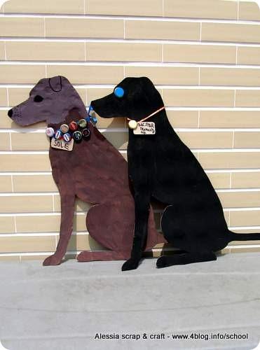 Sagome di cagnolini di cartone da imballaggio per la cameretta