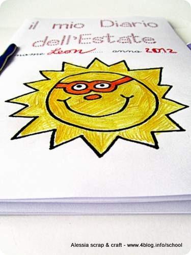 Bambini Diario Dellestate Da Stampare Scrivere E Colorare