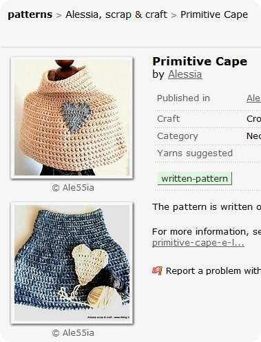 Primitive Cape Pattern su Ravelry