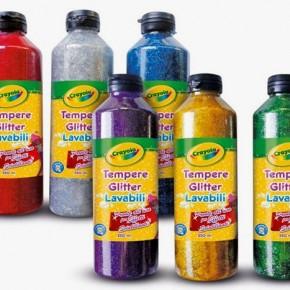 Sponsored Post: tempere glitter lavabili Crayola