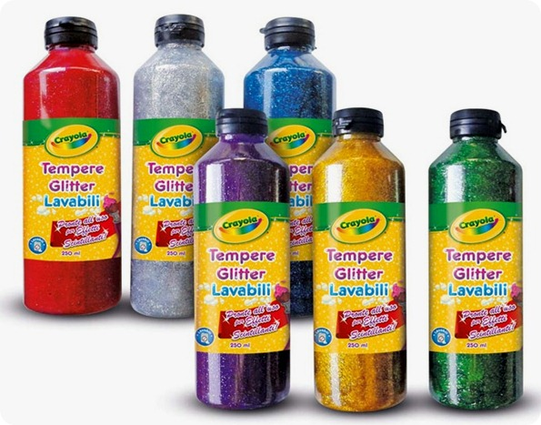 Sponsored Post: tempere glitter lavabili Crayola