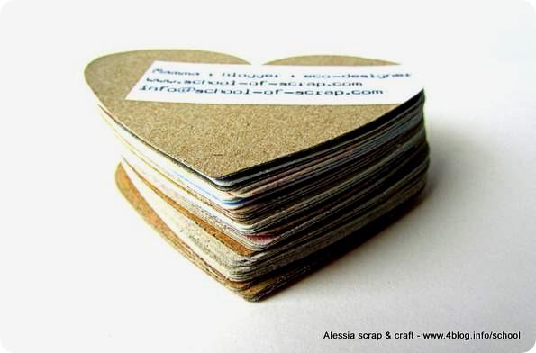 Biglietti da visita ecologici riciclando il cartone