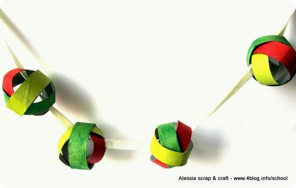 Facciamo una ghirlanda con palline di cartone riciclato