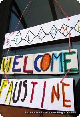 Lavoretti bambini: Cartello benvenuto Welcome