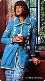 Scuola di maglia vintage: vestaglia maglia + crochet