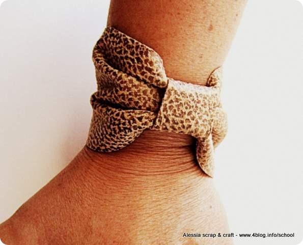 Fabuleux Scuola di moda fai da te: il braccialetto di ecopelle - Alessia  NO19