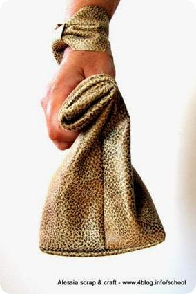 Ancora ecopelle e cucito: la borsetta coordinata con il bracciale