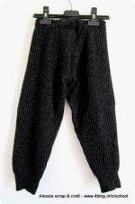 Scuola di cucito: creare pantaloni per bambini con vecchi maglioni