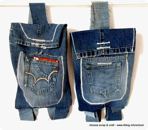 Riciclare Il Jeans Ecco Il Secondo Zainetto Alessia Scrap Craft