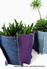 Creare, decorare e arredare con i tessuti: copri-vaso di tessuto riciclato
