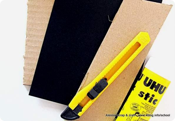 Idea regalo fai-da-te: portafotografie grembiulino primo giorno di scuola