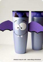 Lavoretti: Pipistrelli di Halloween con flaconi di shampoo