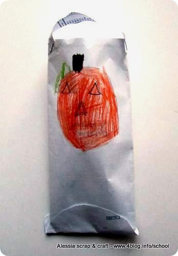 Lavoretti di Halloween dei bambini: busta porta dolcetti