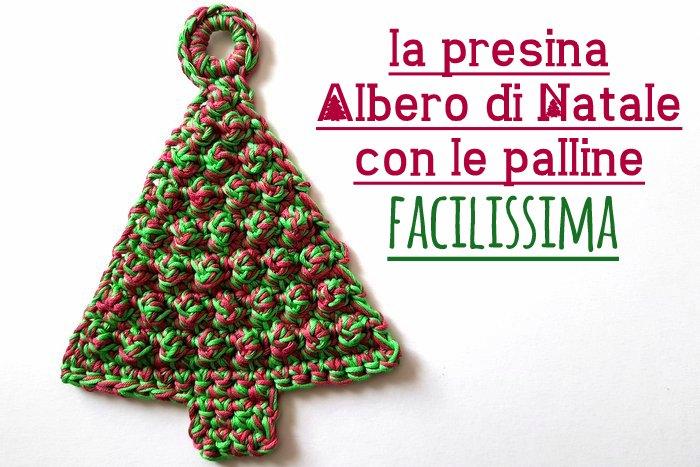 Presina Albero Di Natale Uncinetto.Presine All Uncinetto Per Natale Ecco L Albero Con Le
