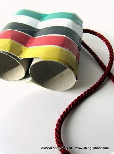 Lavoretti bambini: binocolo con i tubi di cartone