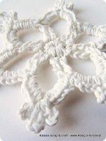 Countdown Natale: spiegazione Fiocco di neve all'uncinetto