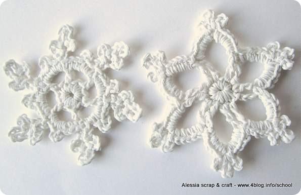 Fiocchi Di Neve Di Carta Tutorial : Countdown natale spiegazione fiocco di neve all uncinetto