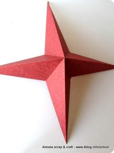 Countdown Natale: stella a 4 punte e 3D