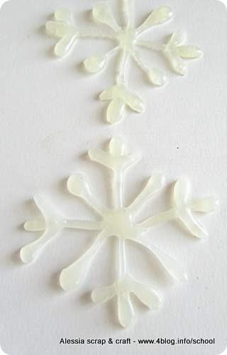 Countdown Natale: fiocchi di neve con la colla