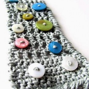 Countdown Natale: bijoux uncinetto + bottoni